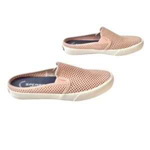 Sperry Shoes - Sperry Mules Blush Slip On Perforated Uppers 7.5
